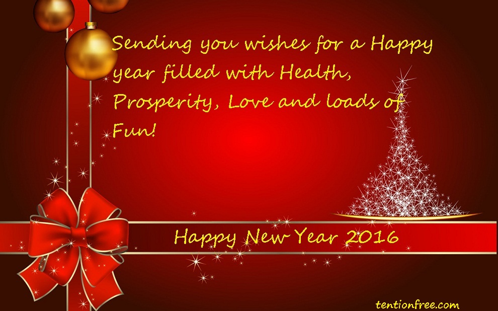 Tention free happy new year 2016 wishes happy new year 2016 m4hsunfo